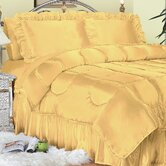 Charmeuse Satin Comforter Set in Gold