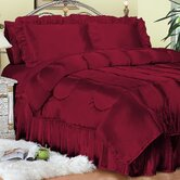 Charmeuse Satin Comforter Set in Red