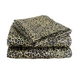 Charmeuse Satin Leopard Print Pillowcase Set