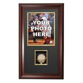 Vertical Photo and Baseball Shadow Box Display
