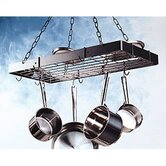 Rectangular Hanging Pot Rack with Grid