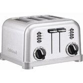 4-Slice Toaster in Brushed Stainless Steel