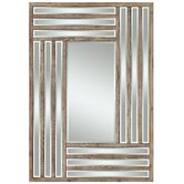 Shelby Mirror in Distressed Light Natural Rustic Wood