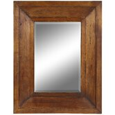 Canon Mirror in Distressed Natural Rustic Wood
