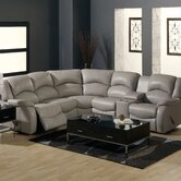 Dane Leather Reclining Sectional