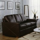 Carlten Leather Sleeper Sofa