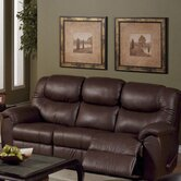 Regent Leather Reclining Sofa