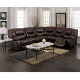 Santino Leather Reclining Sectional