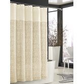 Bedminister Scroll Shower Curtain in Crème Brule