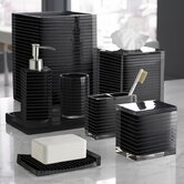 Mar-A-Lago Stripe Bath Accessory Collection in Black