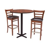 Zoe Stools and Round Caf&eacute; Table