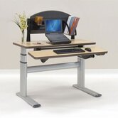 Sonoma Series Premium Dual Surface Rectangle Desk with Laptop Station (Height-Adjustable)