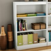Axess Three Shelf Bookcase in Pure White