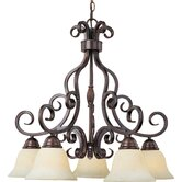 Manor 5 Light Downlight Chandelier