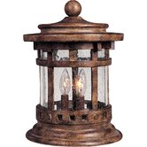 Santa Barbara Vx 3 Light Outdoor Deck Lantern with Seedy Glass
