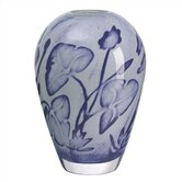 Floating Flower Blue Vase