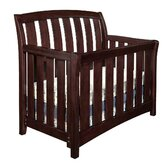 Brookline Convertible Crib with Guard Rail in Chocolate Mist