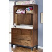Park West Convertible Hutch/Bookcase in Walnut