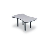 96&quot; Wide Break Out Top Conference Table with Slab Base