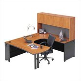 Endure U-Shape Left Configuration Executive Workstation with Hutch