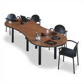 120&quot; Wide Break Out Top Conference Table with Designer Base