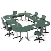Smart Tables: 30&quot; x 48&quot; High-Pressure Laminate Conference Kit (Concave Crescent)