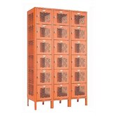 Invincible II Lockers- Six Tier- 3-Section (Assembled)
