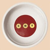 Modern c-a-t Porcelain Cat Bowl