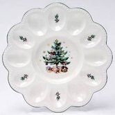 Christmas 9.5&quot; Deviled Egg Server
