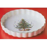 "Christmas 9.25"" Quiche Ramekin"