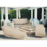 Tron-weve Wicker Lounge Chair Cover w/ Elastic