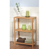 Three Tier Horizontal Bamboo Shelf in Natural