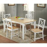 Crossback 5 Piece Dining Set