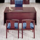 "Vitality 72"" W 3/4 Left Pedestal Executive Desk with Drawers"