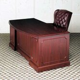 Bedford Single Pedestal Bow Front Executive Desk