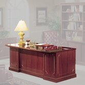 Bedford 66&quot; Single Pedestal Executive Desk