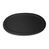 1000 Series Classic Leather Serving Tray in Black