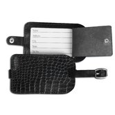 2000 Series Crocodile Embossed Leather Luggage Tag