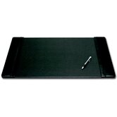 1000 Series Classic Leather 25.5 x 17.25 Side-Rail Desk Pad in Black