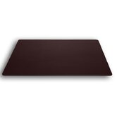1000 Series Classic Leather 24 x 19 Desk Mat without Rails in Chocolate Brown