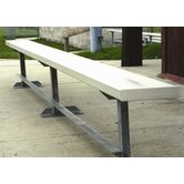 21' W Aluminum Frame Team Bench with Optional Back &amp; Contour Seat