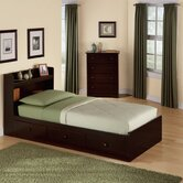 My Space, My Place Storage Twin Bed in Dark Walnut