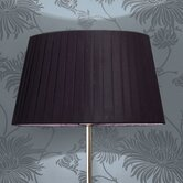 Tag Floor Lamp Pleated Shade in Black