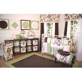 Modern Baby Girl Caffe Crib Bedding Collection