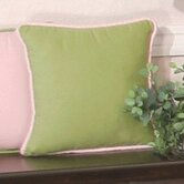 Modern Baby Girl Caffe Pillow in Green
