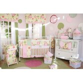 Minky Pink Bubbles Crib Bedding Collection
