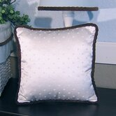 Blue Chocolate Pillow in Ivory