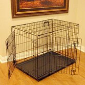Double Door Folding Coated Steel Wire Dog Crate