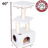 "40"" Bungalow Sherpa Cat Tree"