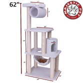 62&quot; Bungalow Sherpa Cat Tree